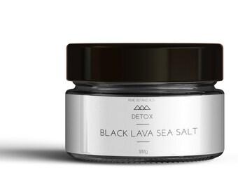 Hawaiian Black Lava Coarse Salt - Speciality Salt For Bath Or Gourmet Cooking 100g