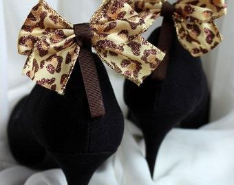 Leopard Bow Shoe Clip (Item #45B)