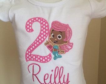 Bubble Guppies birthday shirt, Mollie Bubble Guppies shirt
