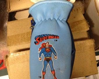 Vintage Super Friends Superman Character Mittens DC comics 1970S mint on card