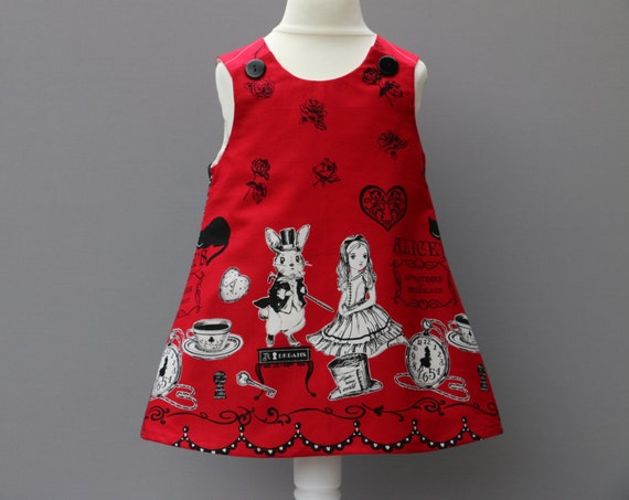 Alice Baby Girls Pinafore Dress Toddlers Dress Childs