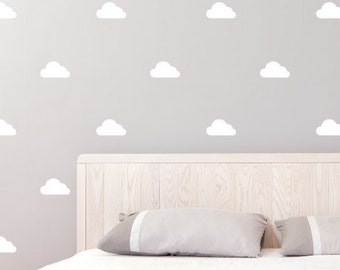 Cloud | Pattern Animals Kids Nursery | Removable Wall Decal Sticker | MS156VC