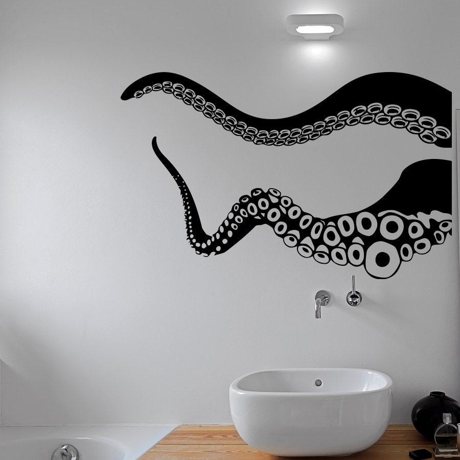 octopus tentacle wall decal kraken sea animals stickers. Black Bedroom Furniture Sets. Home Design Ideas
