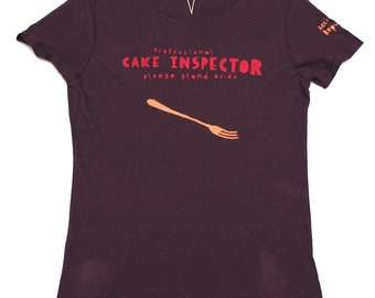 Cake Inspector t-shirt - women's fitted