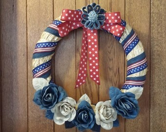 Red,White,and Blue wreath