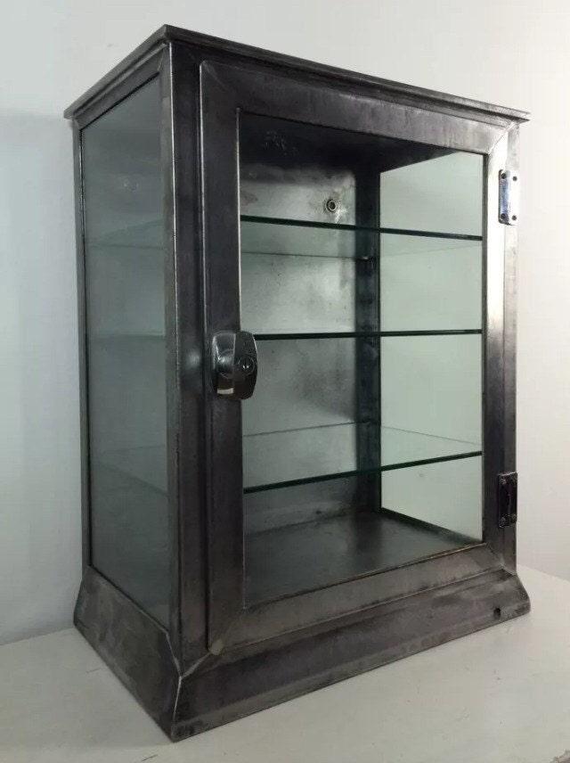 Vtg Metal Medical Dentist Cabinet Industrial Bathroom