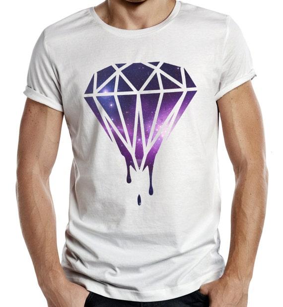 Drippin Diamond: Dripping Diamond GALAXY Logo Tshirt Funny Mens Tumblr Wasted
