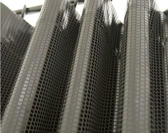 Metallic Black Foiled Plaid Blackout Curtain Nursery Curtains
