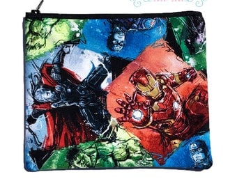 Avengers Superhero Cosmetic / Makeup / Pencil Bag