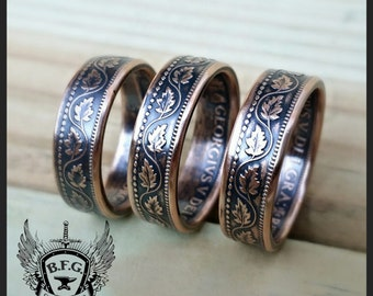 CANADIAN LARGE CENT coin ring.