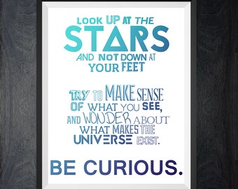 Poster STARS - 3 Digital Print, Printable Wall Poster, Modern Art, Typography Posters, Home wall decor.