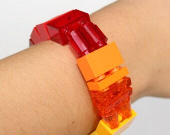 Flame - 1 x 2 Bracelet made with LEGO® pieces - Jewelry made with LEGO® pieces