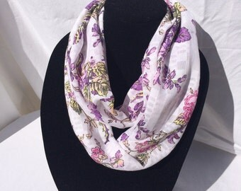 Romantic Pastel Floral Infinity Scarf