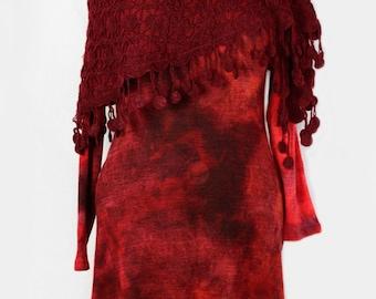 Dress made from Batik fabric