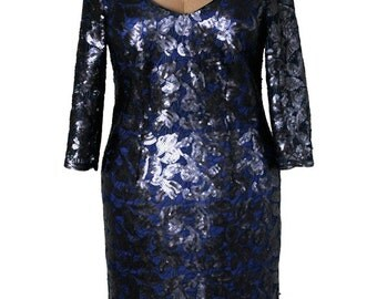 Royal Blue Cocktail Sequin Dress