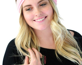 Boho Head Wrap, Hair Band, Fashion Headband, Headband in Sweet Pink By Simply Martha