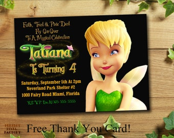 TINKERBELL INVITATION, Tinkerbell Birthday Party,Tinkerbell,Printable Invitation,DIY,Disney Invitation,Made To Order,Perfect Pixel Factory