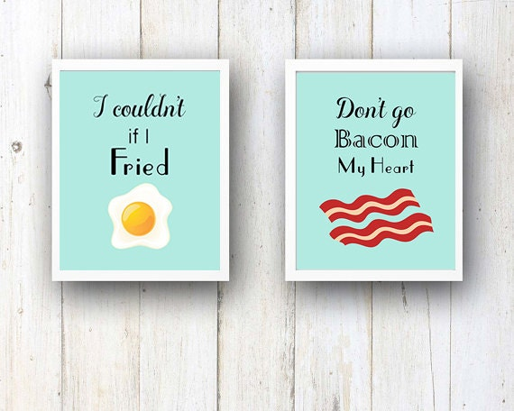 Don T Go Bacon My Heart: SALE Don't Go Bacon My Heart Quote Set Of 2 By