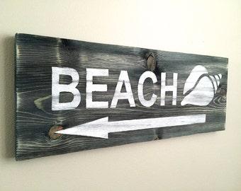 Beach Sign - Wood Wall Decor - Beach Decor - Beach Wall Decor - Beach House Decor - Rustic Wall Decor