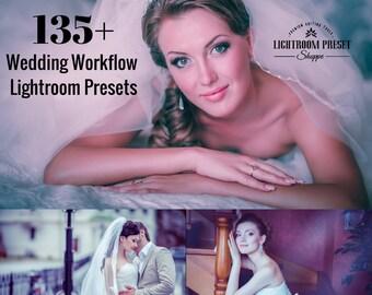 135 Wedding Lightroom Presets Workflow Bundle | Lightroom Presets and Brushes for Wedding Photographers | Lightroom 4, 5, 6 & CC