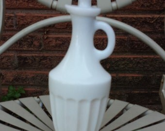Vintage Milk Glass Cruet