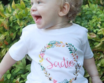 Custom Toddler Girl Shirt, Personalized Baby Girl Onesie, Baby Girl Name Onesie, Custom Toddler Tee, Personalized Girl Shirt, Monogram Girl