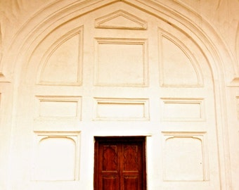 india photography, architecture, old door, wood door, red door, wall art
