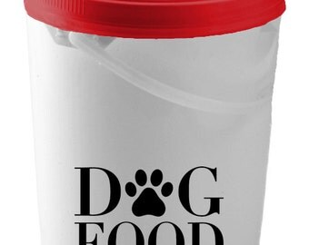 Dog Food Decal, Dog Food Storage Decal, Dog Food Container Decal, Dog Decal, Dog Stickers, Vinyl Decal, Vinyl Stickers