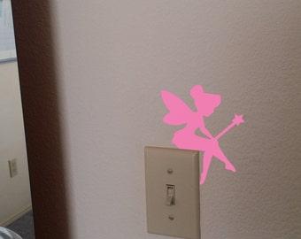 Fairy Decal, Fairy Decor, Fairy Silhouette, Fairy Stickers, Wall Decal, Wall Decor, Nursery Decor, Nursery Wall Decal, Pixie