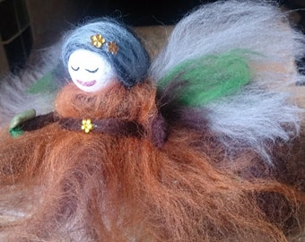 Felt Fairy. Gaea, wool felt fairy