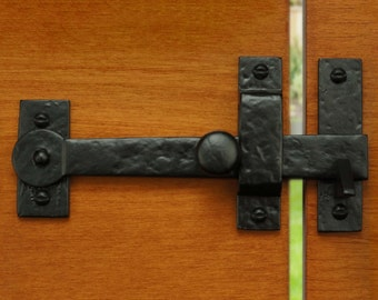 "7.5"" Iron Gate Latch Drop Bar - Solid Cast Iron"