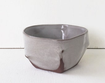 Ceramic Everyday Bowl / Modern Silver Grey / Cereal Bowl / Salad Bowl / Snack Bowl / Soup Bowl / The Cove Bowl / READY TO SHIP