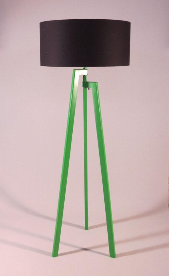 Handmade tripod floor lamp unique wooden stand by dyankoffshop - Unique handmade lamps ...