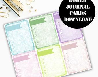 Bokeh Journaling Card Printable / Journal Cards / Scrapbook Kit / Journaling List / Listers Gotta List / Instant Download 00062