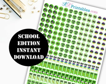 School Edition Printable Planner Stickers / Erin Condren Life Planner / Kikki / Plum Paper Planner / Midori Insert / Planner Insert 00092