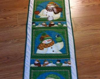 """CHRISTMAS TABLERUNNER Snowman 17""""x63"""""""