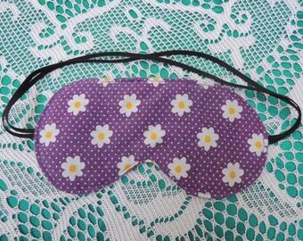 Purple Daisy Sleep Mask