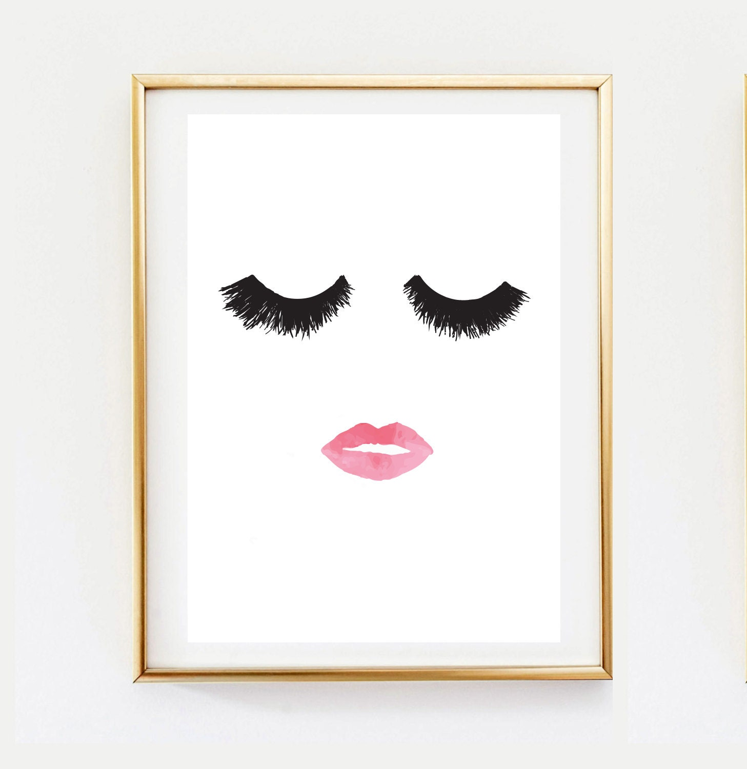 Makeup print wall decor home decor wall art minimalist for Poster decoratif