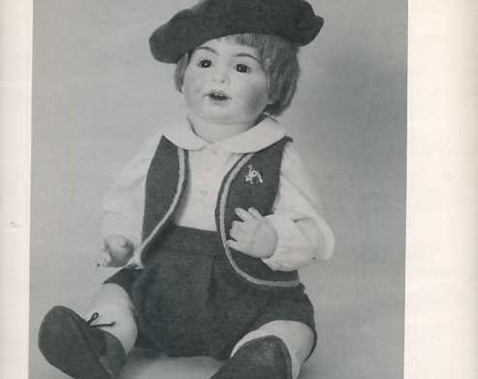 FREE usa SHIP Byron Doll Pattern 1980's 87 Mikey Boy suit Fits 17.5  Old Store Stock Sewing Pattern