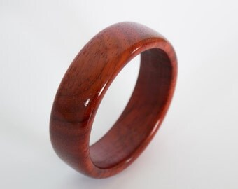 Wood Bracelet, wood bangle, wooden bracelet, wooden bangle, valentines day gift, girlfriend gift,  wooden Bangle from Padouk or red wood