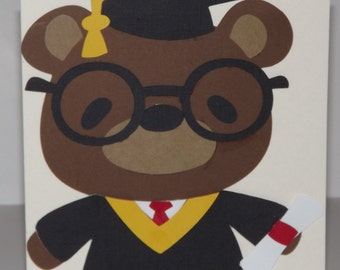 Graduation Card Bear Graduate!