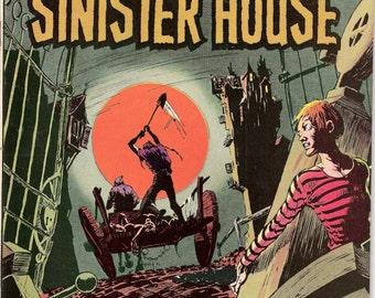 The Secrets of Sinister House 6, Grim Reaper, Horror comic book, Halloween, Kaluta art, Creepy Tales of Terror. 1972 DC Comics in VF+ (8.5)