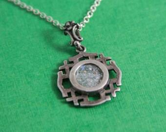 Roman Glass Jerusalem Cross 925 Sterling Silver / Jerusalem cross / Roman Glass / Roman Glass Jewelry / Roman Glass Pendant / Silver Cross