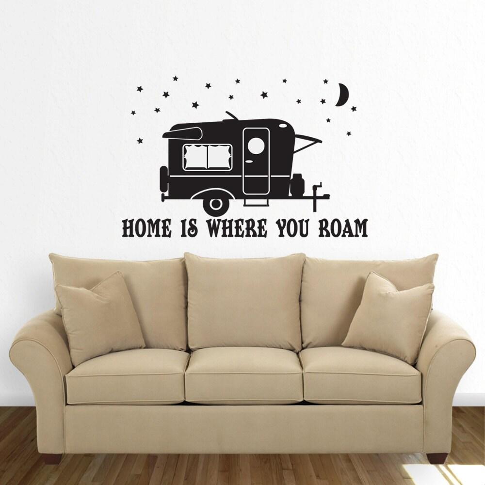 Camper Camping Trailer Decal Happy Camper RV Motorhome - Custom vinyl trailer decals