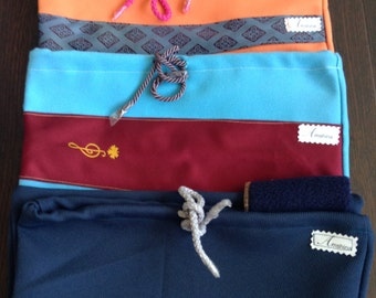 Pull string bags,  Shoe Bags,  flip flop carry bag, accessories, beach carry bag, Fleece cloth, orange, blue, draw string