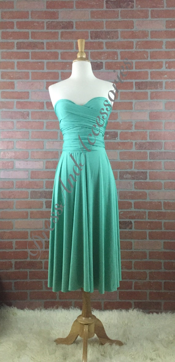 Jade green bridesmaid convertible dress infinity dress for Jade green wedding dresses