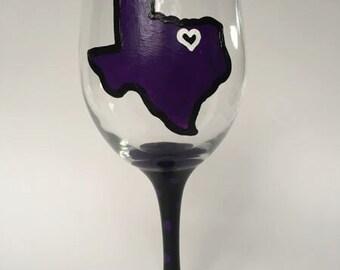 TCU Wine Glass