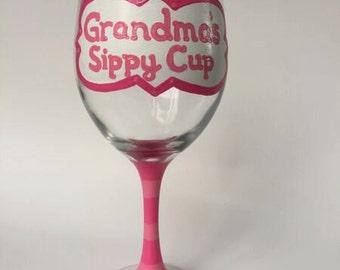 Grandma's Sippy Cup Wine Glass