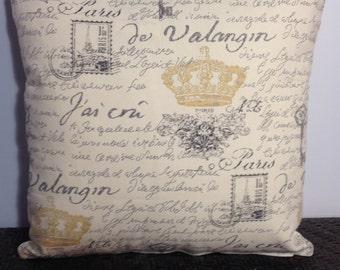 Decorative Pillow Cover Throw Pillow Paris Notebook Pale Yellow