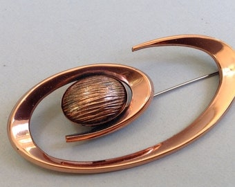 """Renoir Crazy Cool Copper """"Out Of This World """"  Pin/Brooch"""